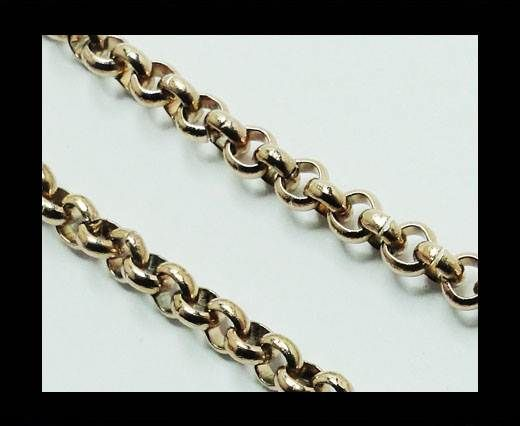 Steel chain item number-12-rose gold-2mm