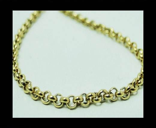 Steel chain item number-12-gold-2mm
