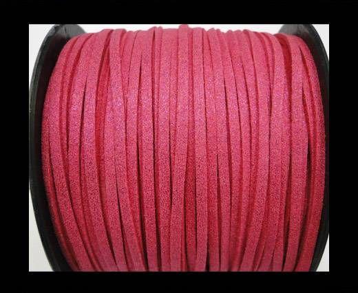 Suede cord - 3mm - Glitter Fuchsia
