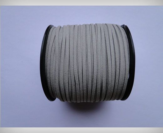 Suede Cords-3mm-Light Grey