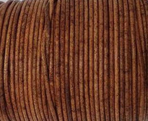 Round leather cord-2mm- Vintage TAN
