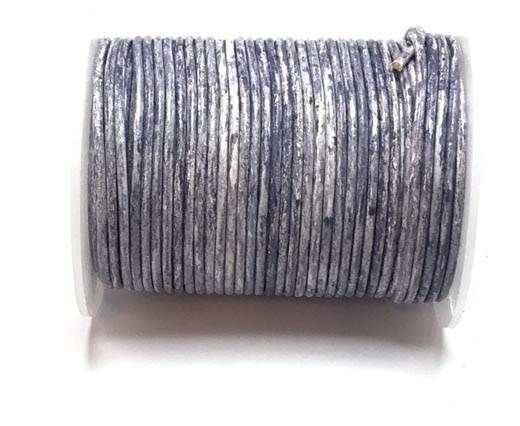 Round leather cord-2mm- Vintage NAVY BLUE