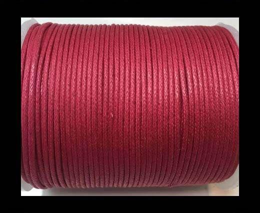 Wax Cotton Cords - 1mm - Fuchsia