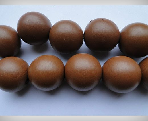 Wooden Beads-25mm-Brown