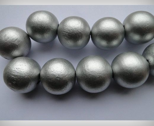 Wooden Beads-30mm-Silver