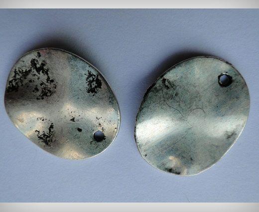 Zamac Silver Plated Beads CA-3004