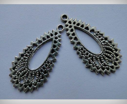 Zamac Silver Plated Beads CA-3008