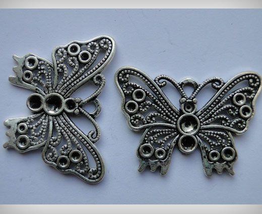 Zamac Silver Plated Beads CA-3010