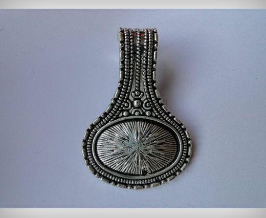 Zamac Silver Plated Beads CA-3041