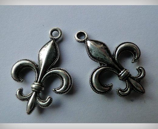 Zamac Silver Plated Beads CA-3053