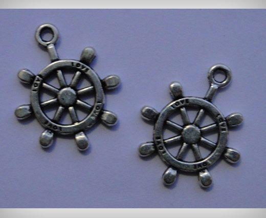 Zamac Silver Plated Beads  CA-3079
