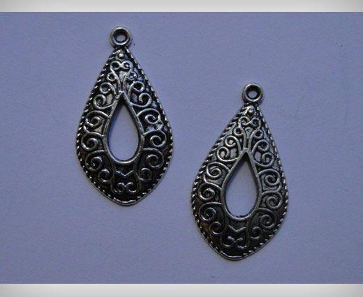 Zamac Silver Plated Beads CA-3085