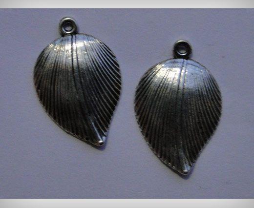 Zamac Silver Plated Beads CA-3088