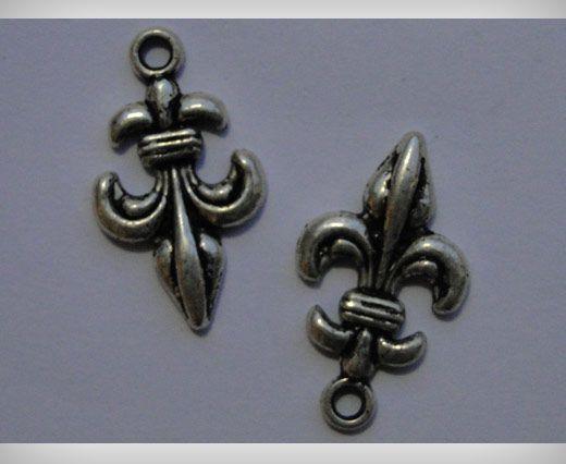 Zamac Silver Plated Beads CA-3090
