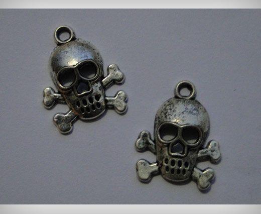 Zamac Silver Plated Beads CA-3095