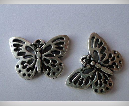 Zamac Silver Plated Beads CA-3033