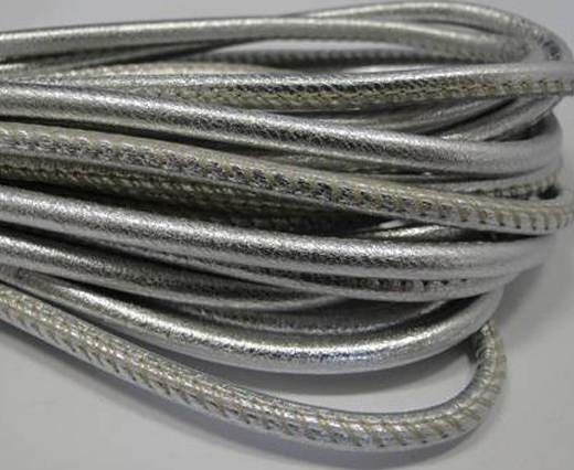 1mm Silver Mettalic Cord,1mm Gold Metallic Round Leather Cord,Silver Leather Cord Bracelet,Metallic Silver Leather Necklace Cord