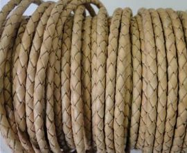 Round Braided Leather Cord SE/B/01 – Natural-3mm new product