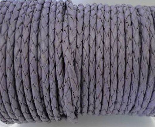 Round Braided Leather Cord SE/B/15-Violet - 3mm