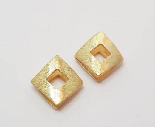 Gold plated Brush Beads - 15001
