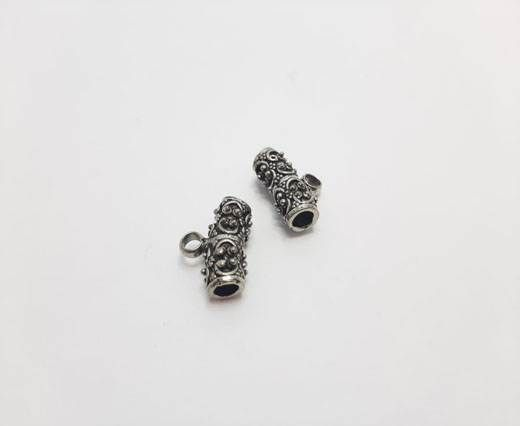 Antique Silver Plated beads - 44285