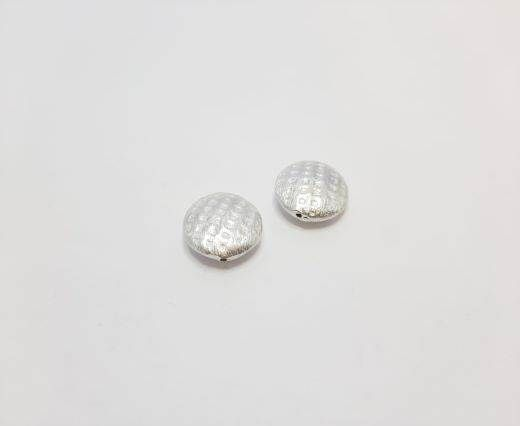 Silver plated Brush Beads - 8493