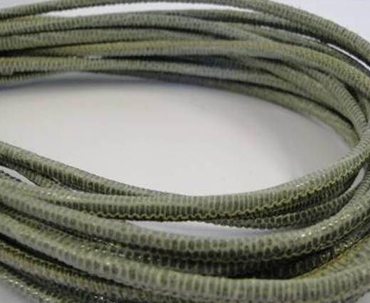 Fine Nappa-2,5mm- lizard salvia + paillettes transparent