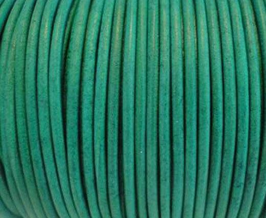 Round Leather Cord SE/R/Vintage Green-2mm