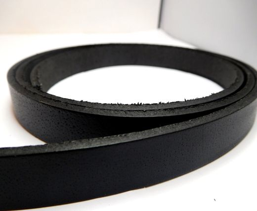 Vintage Style Flat Leather-14mm-Black