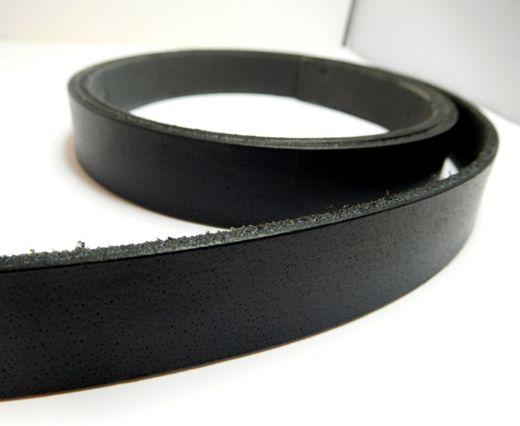 Vintage Style Flat Leather-20mm-Black