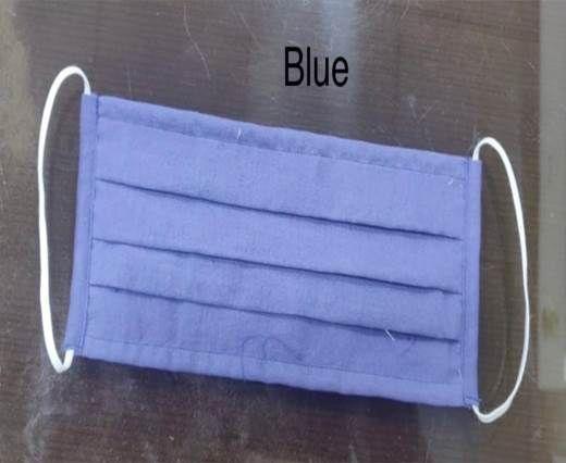 Blue  Washable Cotton Mask