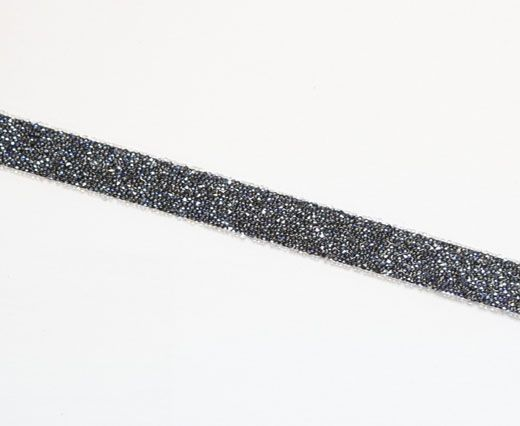 57000 Swarovski Crystal-Fabric Banding- Crystal MoonLight