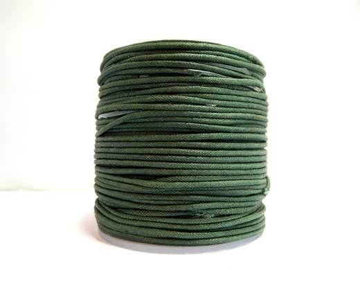 Wax Cotton Cords - 1,5mm - Bottle green
