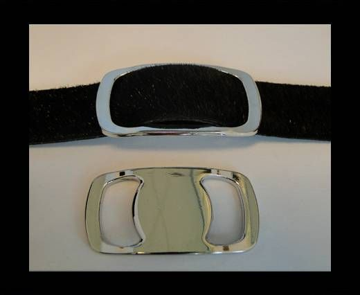 Zamak part for leather CA-4645-Steel Finish