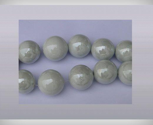Ceramic Beads-21mm-White