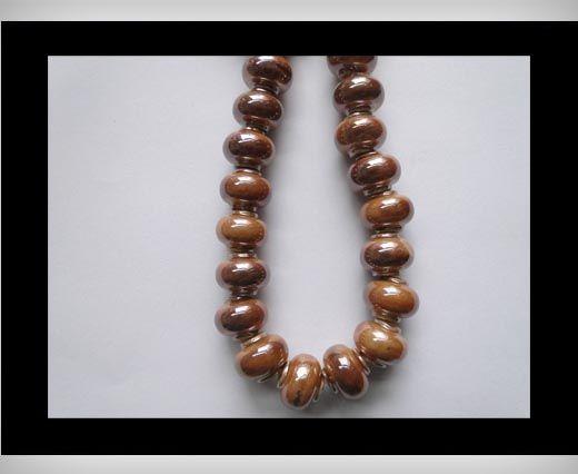 Ceramic Beads-Brown-AB