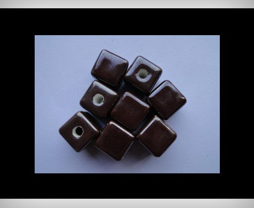 Cube-14mm-Brown