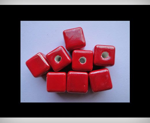 Cube-14mm-Red
