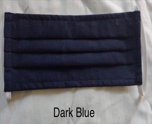 Dark Blue Washable Cotton Mask