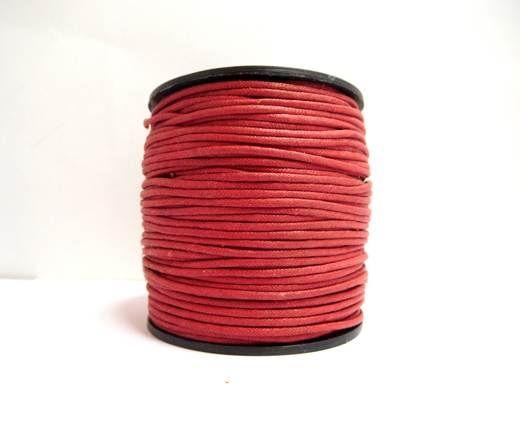 Wax Cotton Cords - 1,5mm - Dark Red