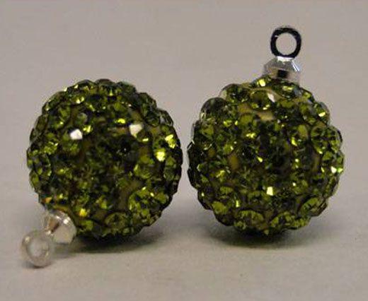 Shamballa-Crystal-Hanger-14mm-Olive