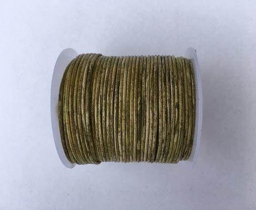Round Leather Cord -1mm- Mehandi(027)