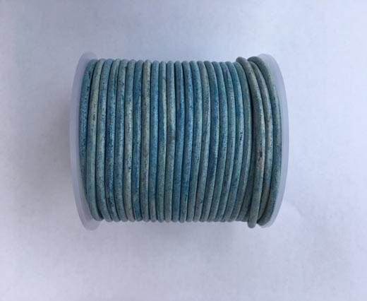 Round leather cord-4mm- Blue(038)