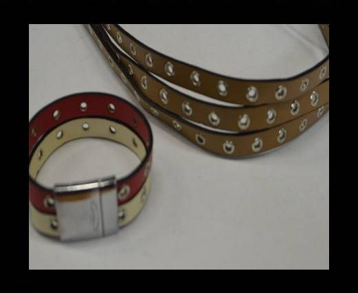 Eco Leather with Rings 10mm-Light brown