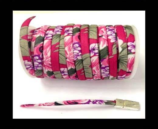 Fabric with flowers flat-5mm-Fuchsia