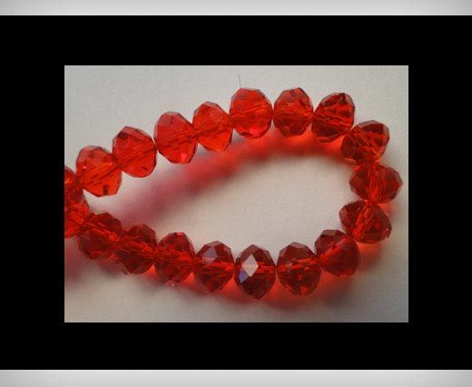 Faceted Glass Beads-6mm-Granate