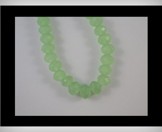 Faceted Glass Beads-6mm-Pacific Opal