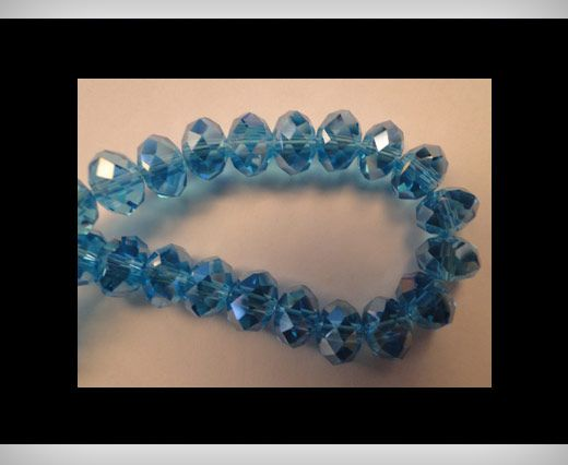 Faceted Glass Beads-6mm-Turquoise-AB
