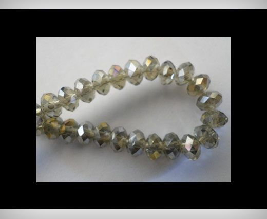 Faceted Glass Beads-12mm-Black Diamond-AB