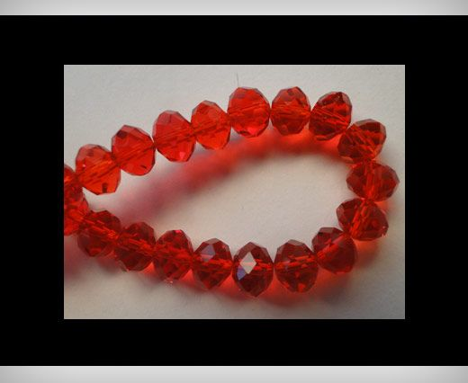 Faceted Glass Beads-12mm-Granate